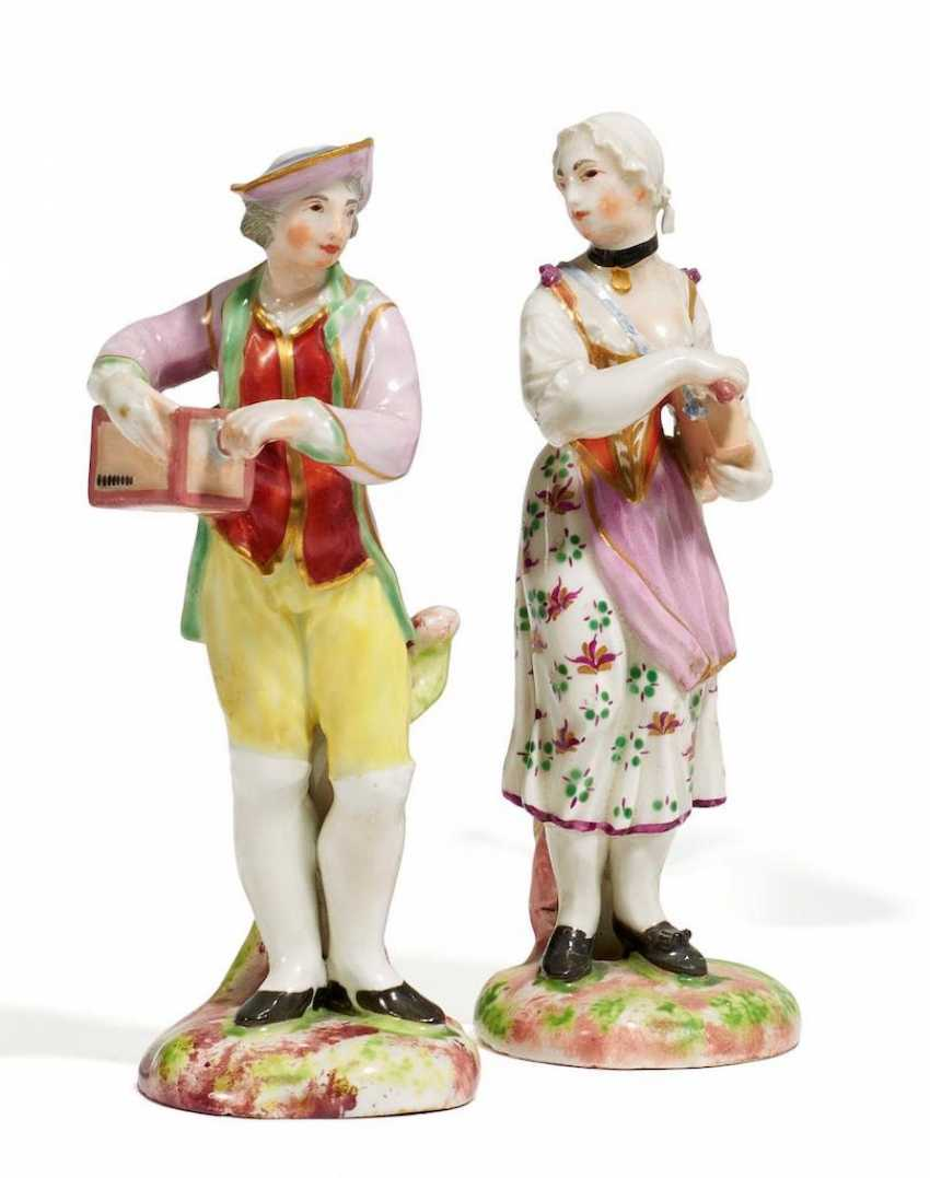 A man and a woman with a lyre - photo 1