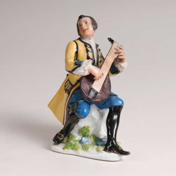 "Johann Joachim Kaendler ""porcelain figure 'the lute player', from the Gallant chapel"" - photo 1"
