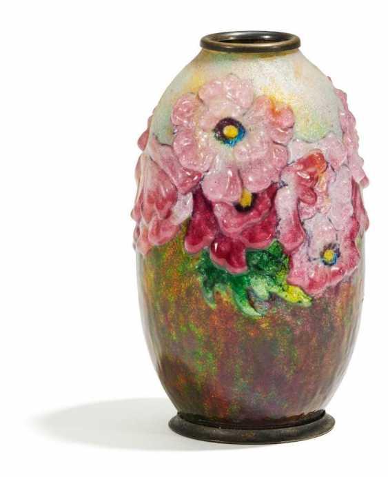 Kleine Vase mit Blumendekor - Foto 1