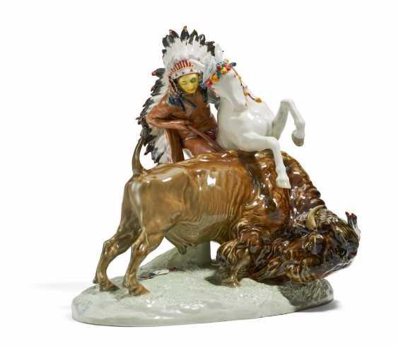 Indianer auf Pferd - Foto 1