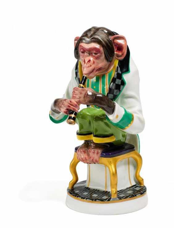 Schimpanse als Klarinettist - Foto 1