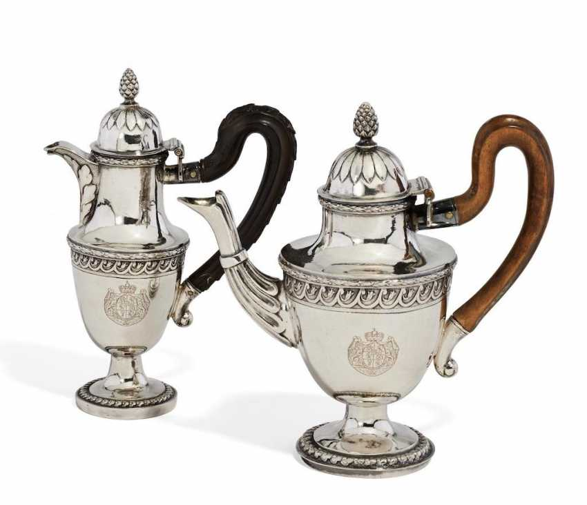 Coffee pot and hot milk jug for the princely house of Thurn and Taxis - photo 1