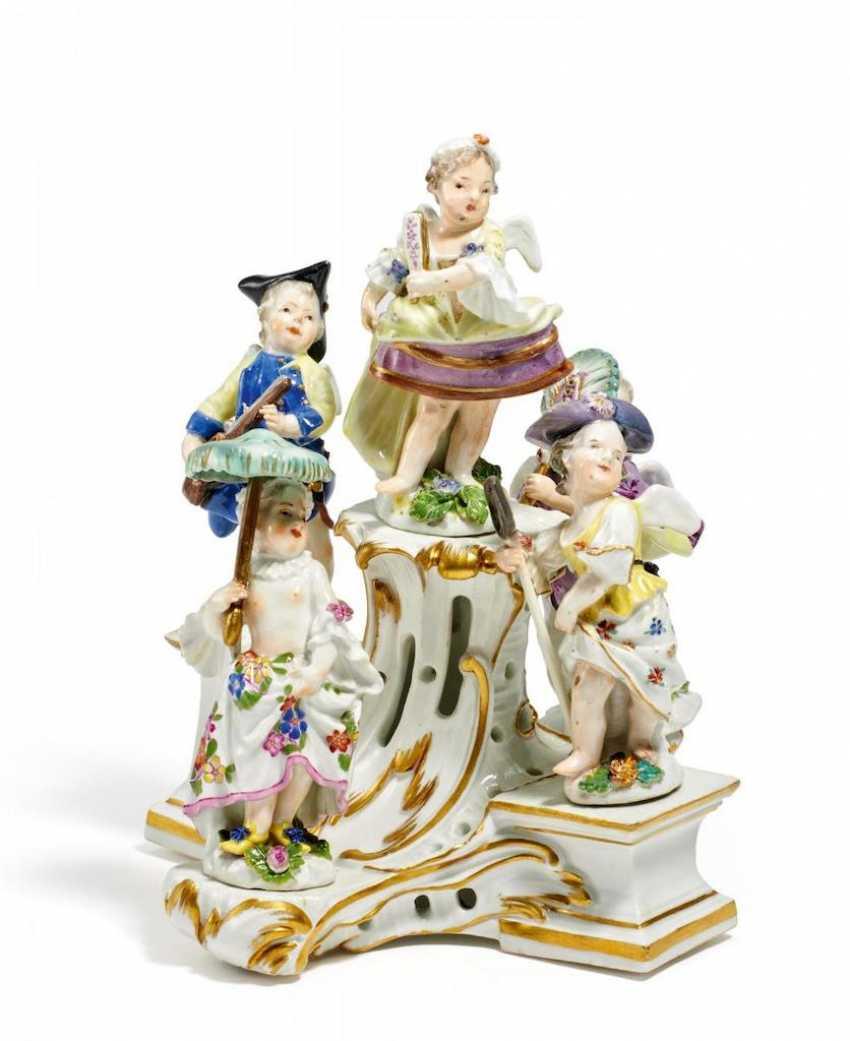 Paar prachtvolle Girandolen mit knienden Chinesen - Foto 1
