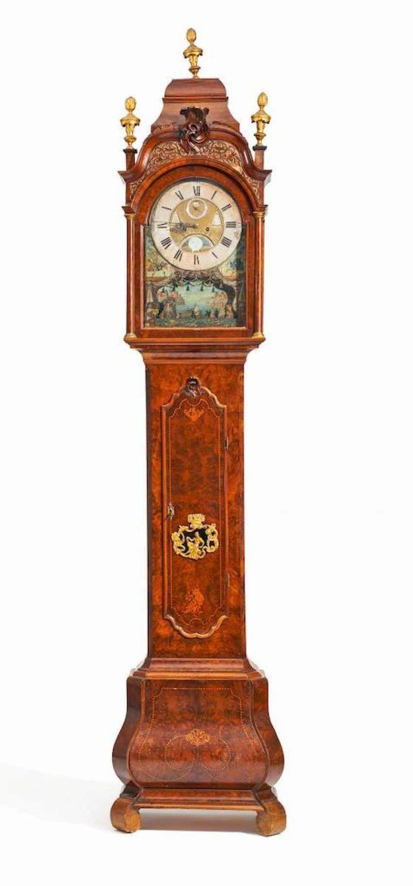 Rococo longcase clock with automaton - photo 1