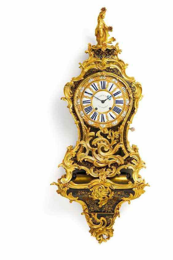 Large pendulum clock on console Louis XV - photo 1