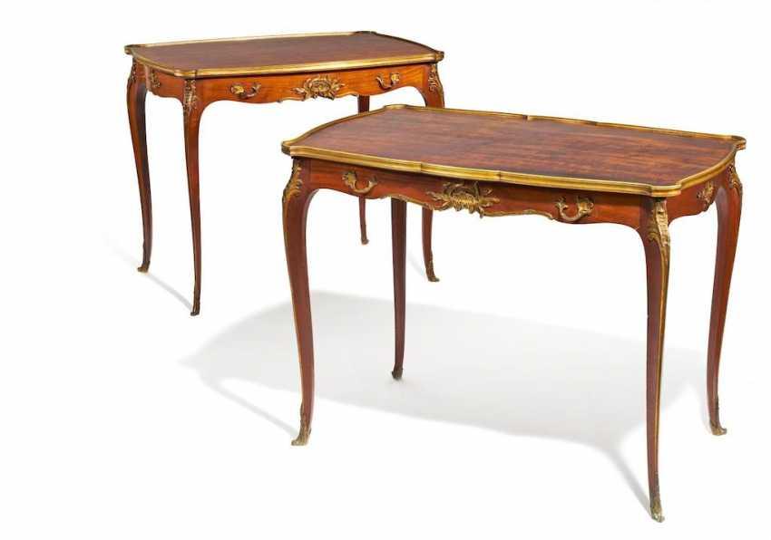 Paar Konsoltische Style Louis XV - Foto 1
