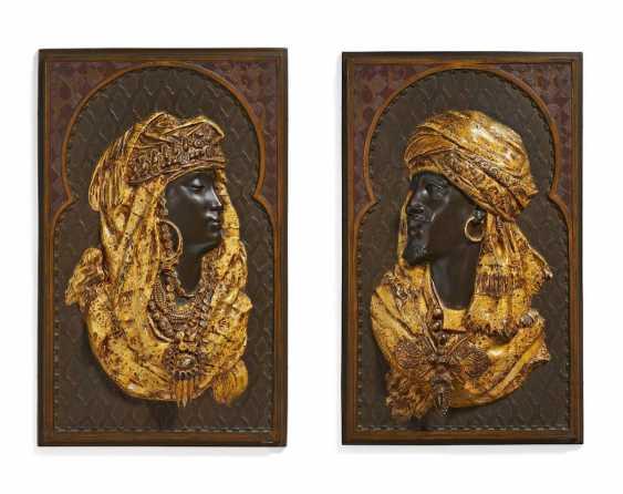 Paar Reliefs mit einem algerischen Paar - Foto 1