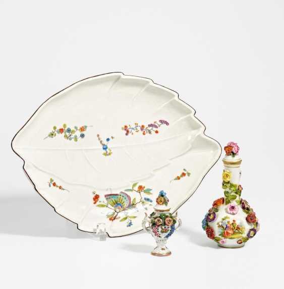 Blattschale & kleine Vase - Foto 1