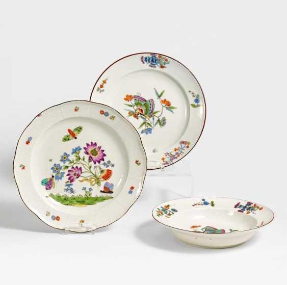 3 Teller mit Schmetterlingsdekor - Foto 1