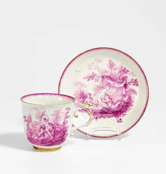 Cup and saucer with mythological scene - photo 1