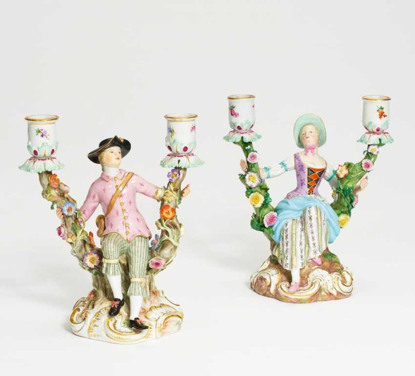 Pair of figural candlesticks - photo 1