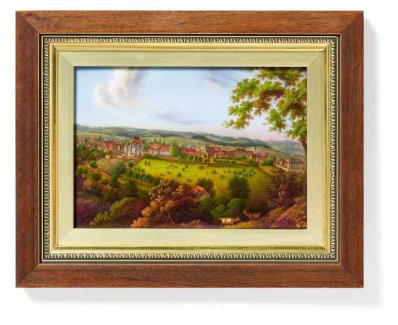 Image plate with view of forest, castle - photo 1