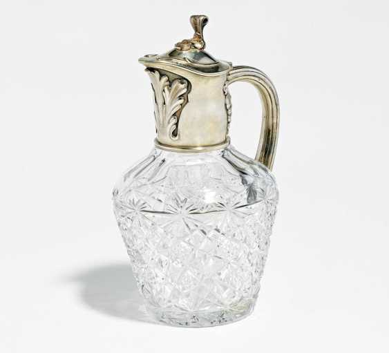 Glass carafe with silver mount - photo 1