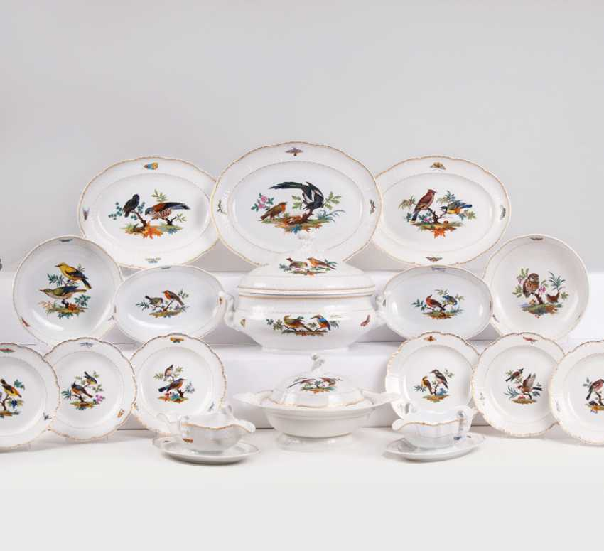 """""""Comprehensive dining service for 11-12 persons with fine bird painting"""" - photo 1"""