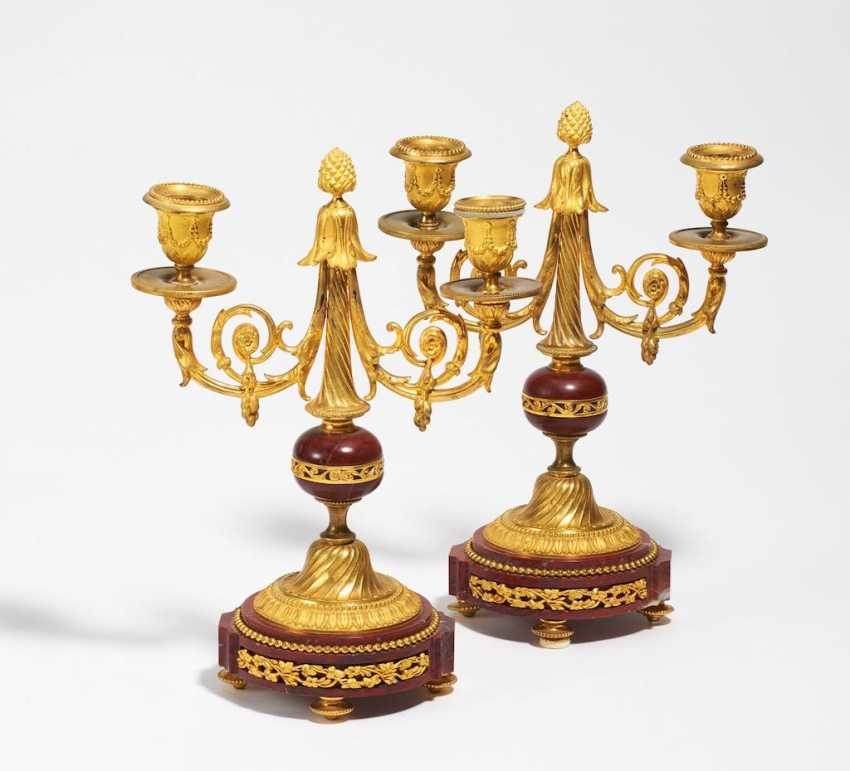 Paar Girandolen Style Louis XVI - photo 1