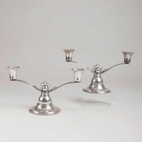 "Grann & location ""Pair of small Art Deco candelabra"" - photo 1"