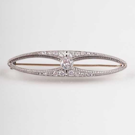 """""""Art Deco Diamant-Brosche"""" - photo 1"""