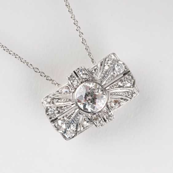"""Art Deco diamond pendant with chain"" - photo 1"