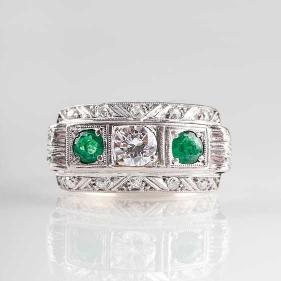 """Art Deco Smaragd-Diamant-Ring"" - photo 1"