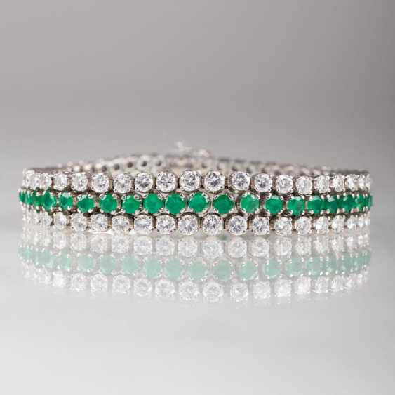 """Fine, high-quality Vintage emerald diamond bracelet"" - photo 1"