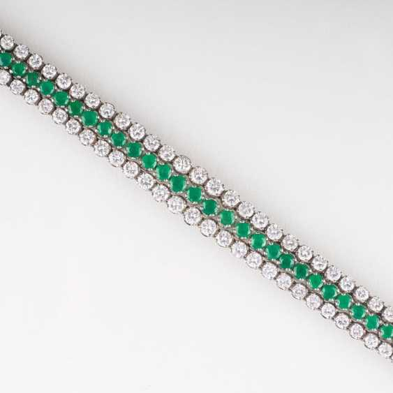 """Fine, high-quality Vintage emerald diamond bracelet"" - photo 2"