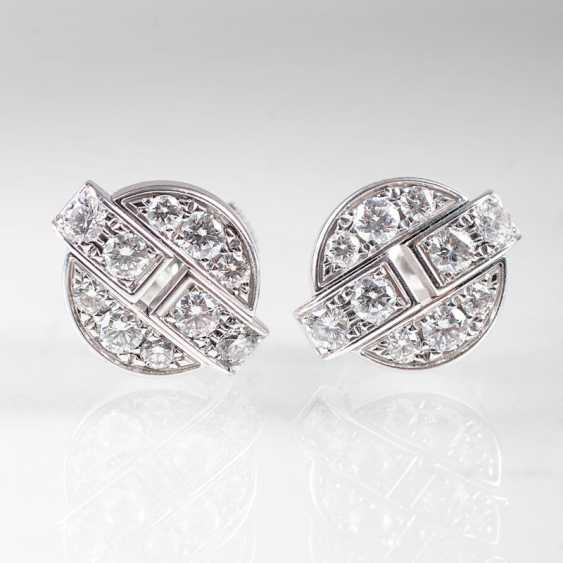 """Pair of brilliant stud earrings from Cartier"" - photo 1"
