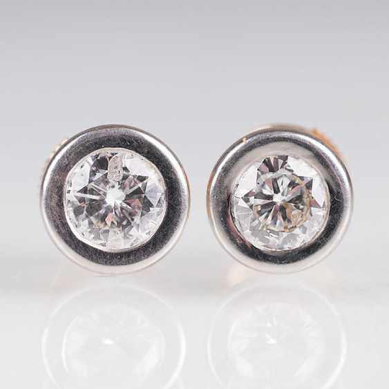 """Pair Of Solitaire Stud Earrings"" - photo 1"