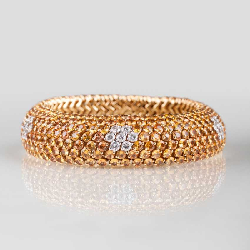 """High-carat Yellow sapphire bracelet with brilliant-stocking"" - photo 1"