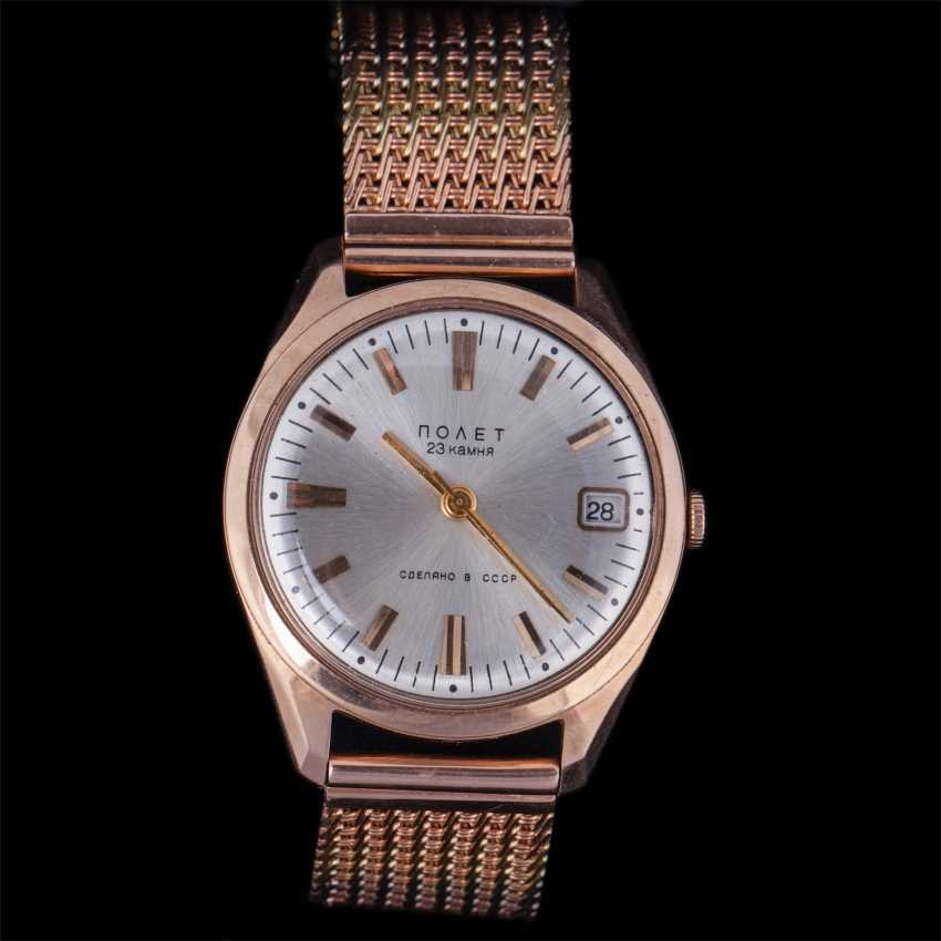 Mens gold 583 wrist watch