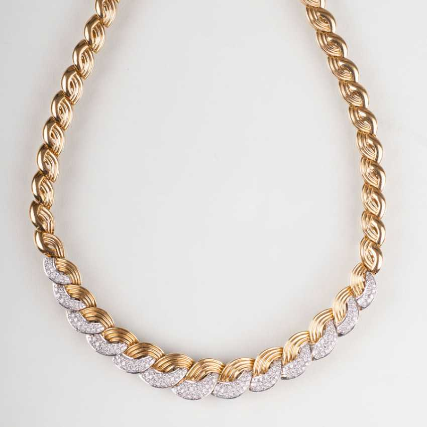 """""""High-quality Gold-diamond-jewelry with necklace and bracelet"""" - photo 2"""