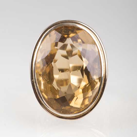 """A Large Citrine Ring"" - photo 1"