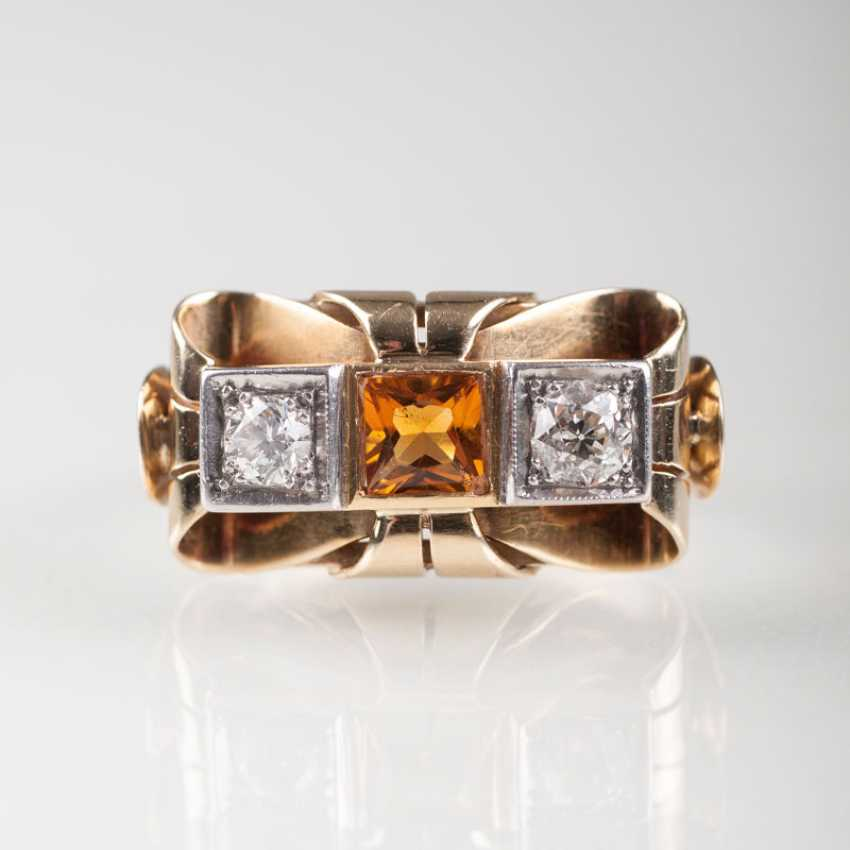 ''Vintage Diamant-Citrin-Ring'' - photo 1