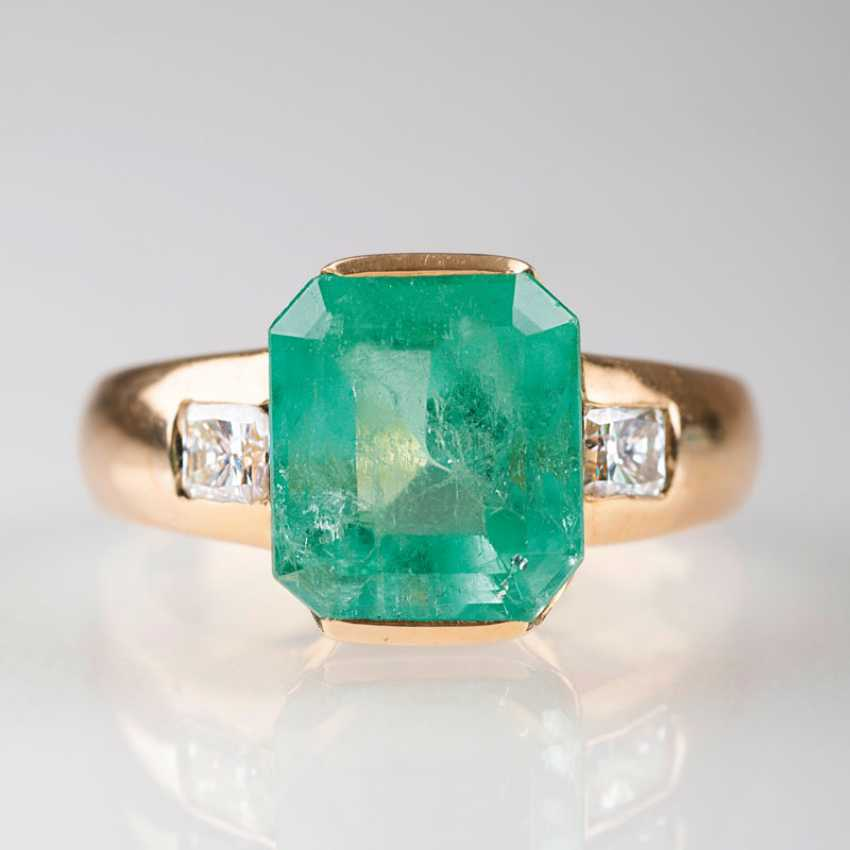 ''Smaragd-Diamant-Ring'' - photo 1