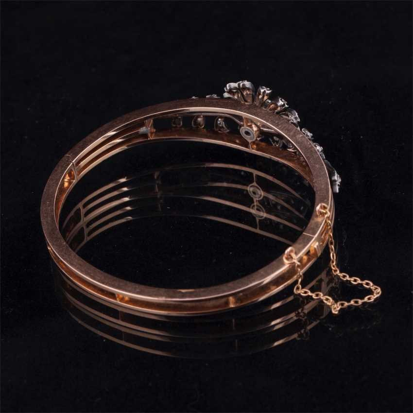 Gold bracelet with old-cut diamond and diamonds - photo 4