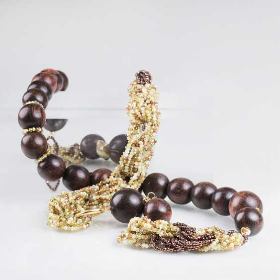 """Modern, color harmonious garnet ebony wood-Collier"" - photo 1"