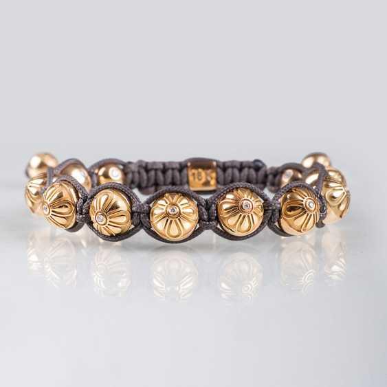 """Gold and diamond braided bracelet from Shamballa Jewels"" - photo 1"