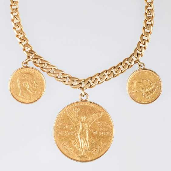 """""""Tank-bracelet with 3 coin-pendants in Gold"""" - photo 1"""