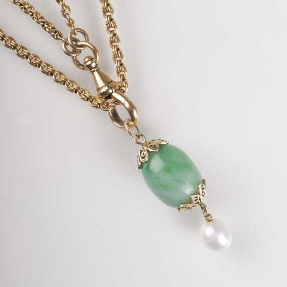 """""""Long Gold chain necklace with Egg pendant"""" - photo 1"""