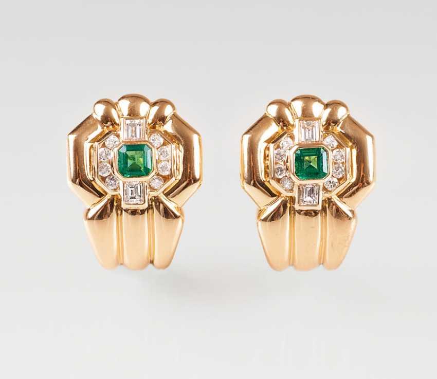 """""""Pair Of Vintage Diamond Earrings"""" - photo 1"""