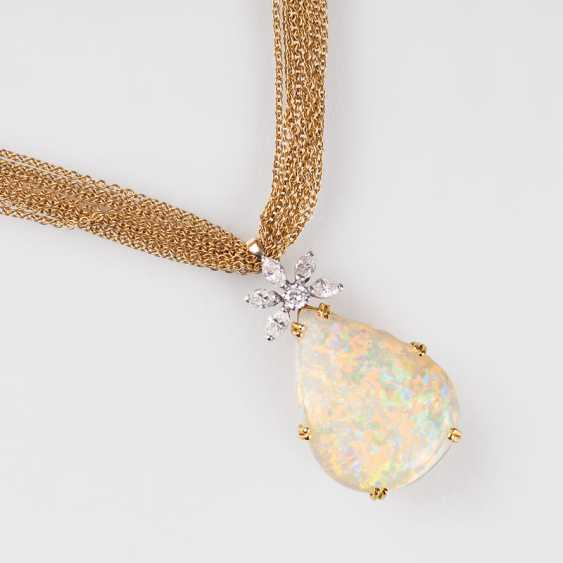 """""""Opal and diamond pendant with chain"""" - photo 1"""