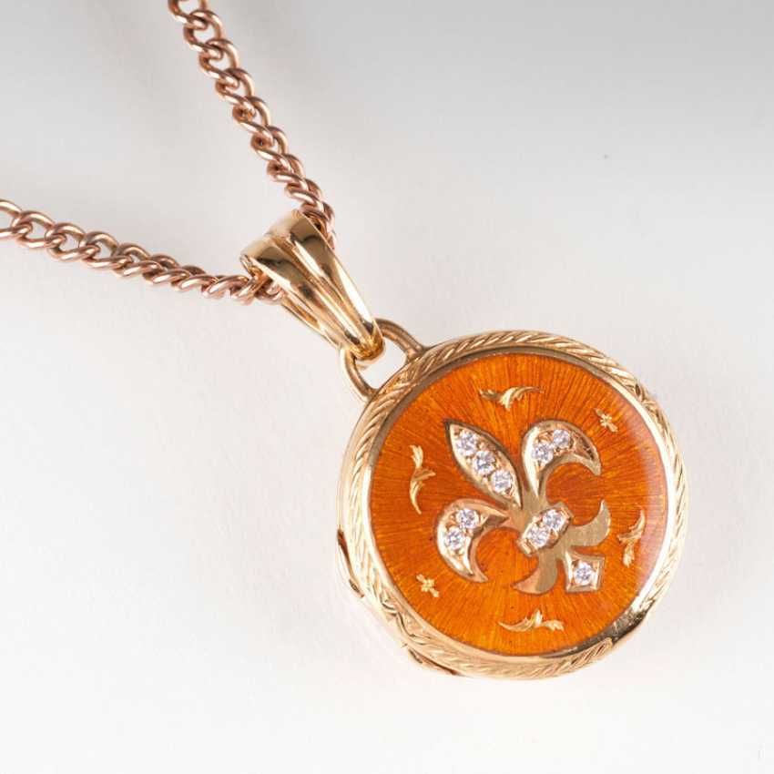 """Brilliant enamel pendant by Victor Mayer for Faberge"" - photo 1"