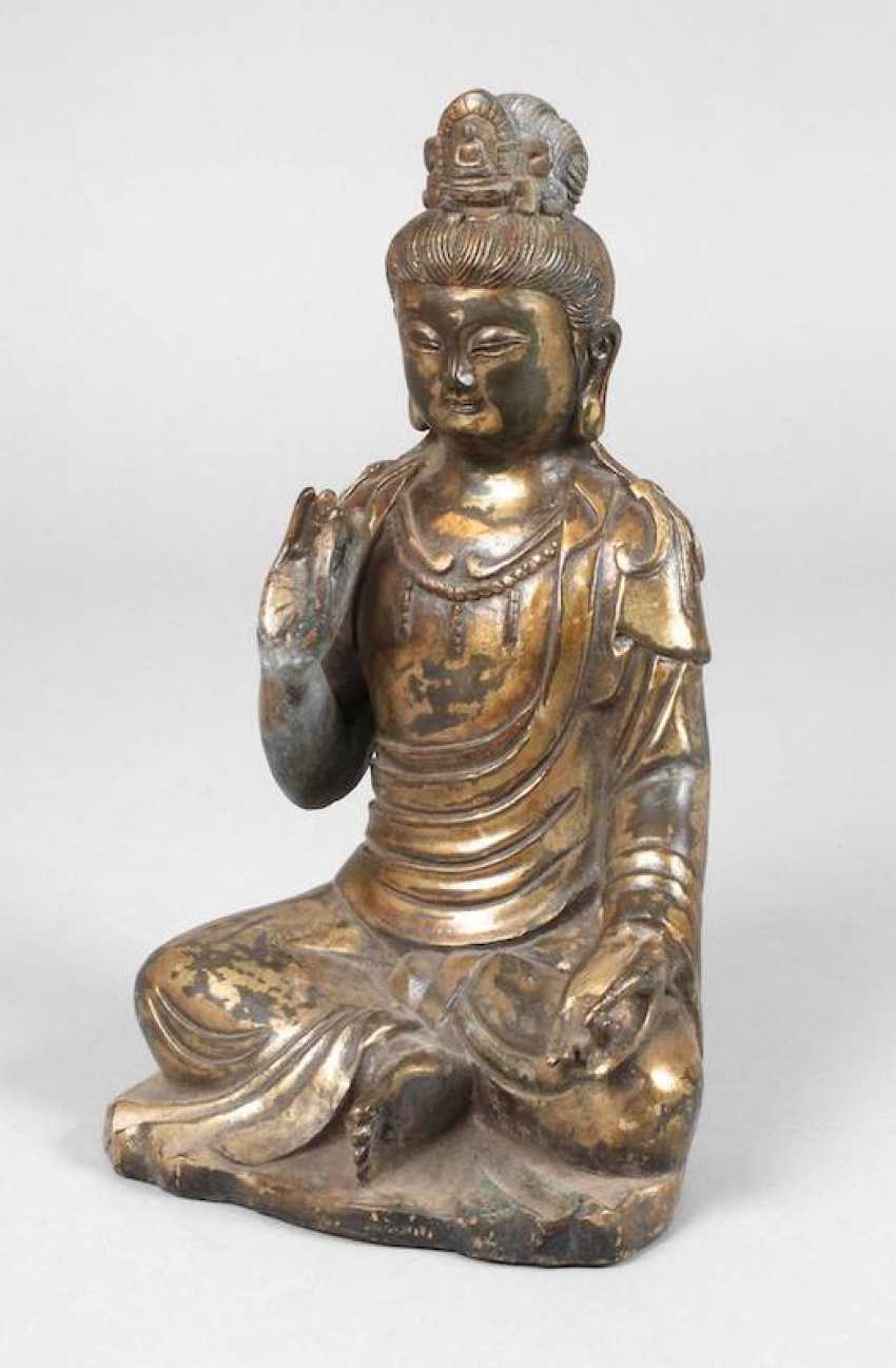 Avalokiteshvara Bodhisattva Porzellanfigur Porzellan Skulptur Statue 56 cm China