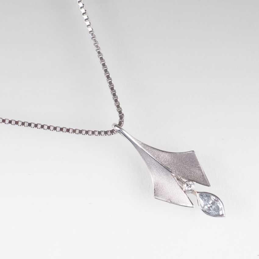 """Platinum diamond pendant with chain of Ehinger-Schwarz"" - photo 1"