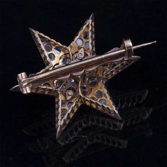 Brooch Star with diamonds and diamonds - photo 3