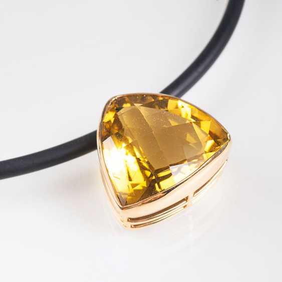 """""""Necklace with a large Lemon citrine pendant"""" - photo 1"""