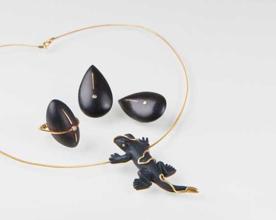 """""""Three-piece contemporary set made of wood and bakelite"""" - photo 1"""