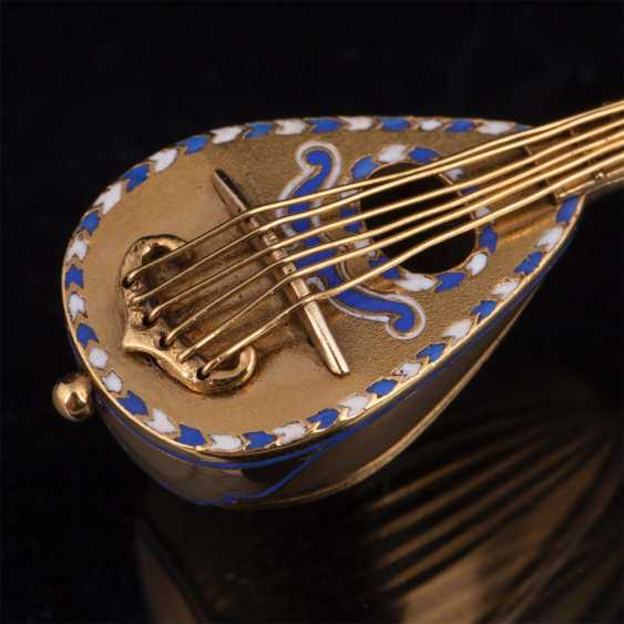 "Gold pendant, with enamel 56 ""Mandolin"" - photo 2"
