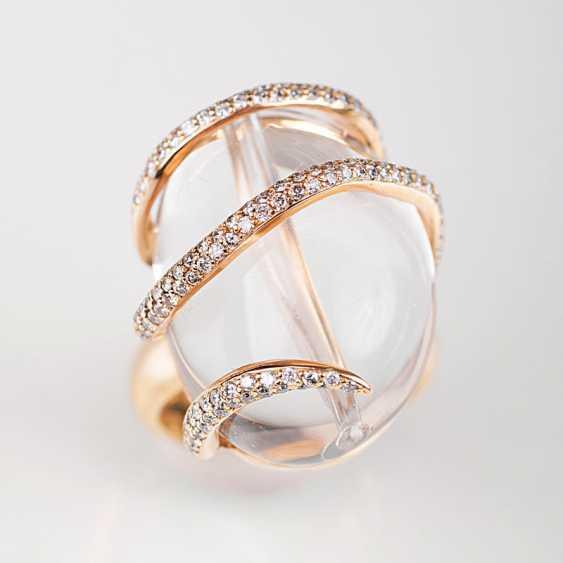 """Modern rhinestone Ring with brilliant-stocking"" - photo 1"