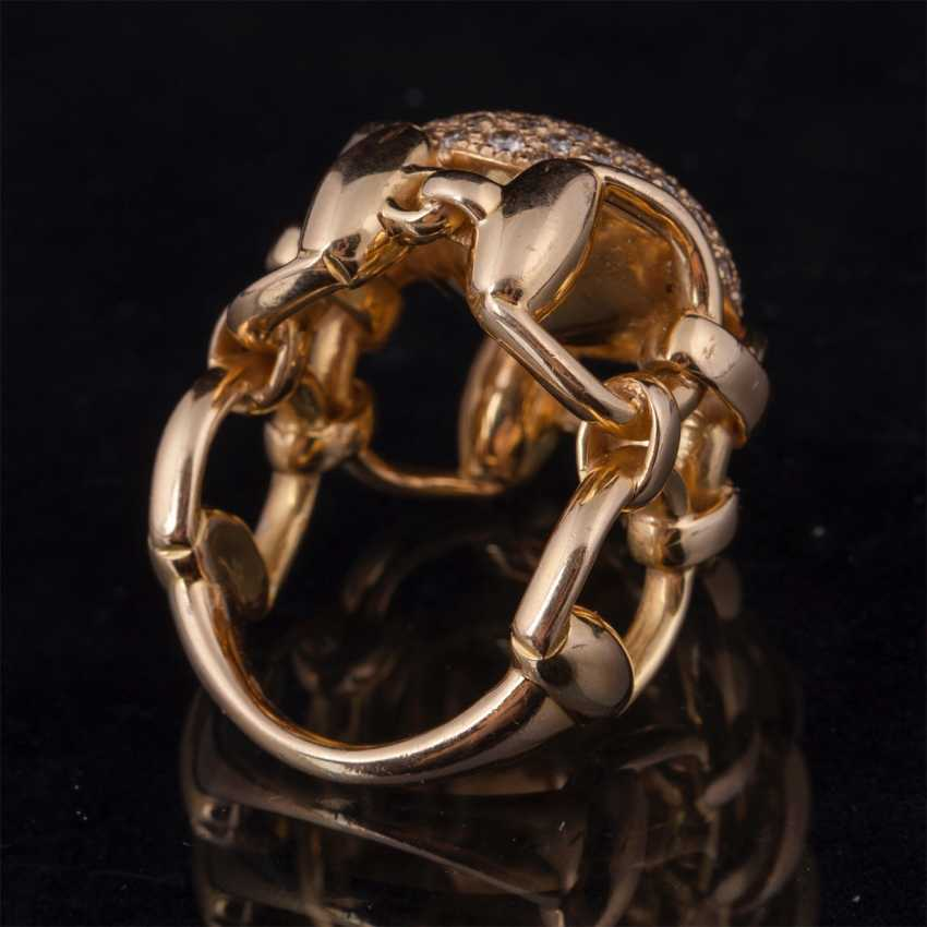 Gold ring. 18K. diamonds. Model: Stirrups. Gucci - photo 2