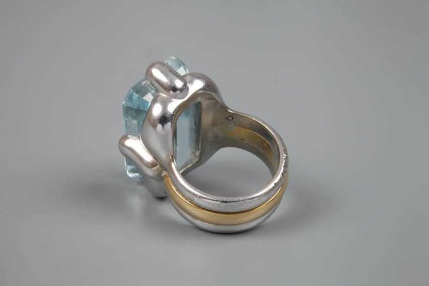 Ladies ring with large blue Topaz - photo 4